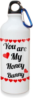 Sky Trends Gift You Are My Honey Bunny White Sipper Bottle 600 ml Water Bottle