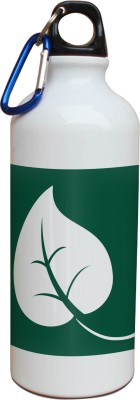 Tiedribbons Our Earth_Our Care_World Envronment Day_Green Leaf _White Sippers 600 ml Water Bottle