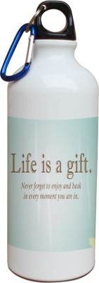 Tiedribbons Our Earth_Our Care_World Envronment Day_Green Gift _White Sippers 600 ml Water Bottle