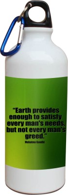 Tiedribbons Our Earth_Our Care_World Envronment Day_Green Mahatma _White Sippers 600 ml Water Bottle