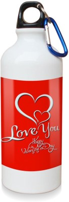 Sky Trends Gift Love You Happy Valetine's Day White Sipper Bottle 600 ml Water Bottle