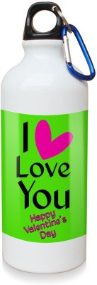 Sky Trends Gift I Love You With Pink Heart White Sipper Bottle 600 ml Water Bottle