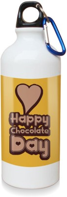 Sky Trends Gift Happy Chocolate Day With Heart White Sipper Bottle 600 ml Water Bottle