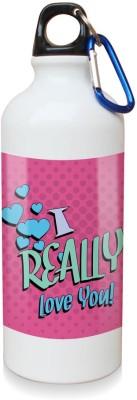 Sky Trends Gift I Really Love You White Sipper Bottle 600 ml Water Bottle
