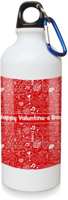 Sky Trends Gift Happy Valentine Day Red Moments White Sipper Bottle 600 ml Water Bottle