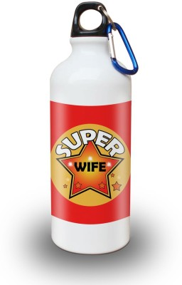 Sky Trends Gift Super Wife Gifts Of Valetine White Sipper Bottle 600 ml Water Bottle