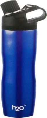 H2O Sb111 Hot & Cold Stainless Steel 600 ml Water Bottle(Set of 1, Blue)