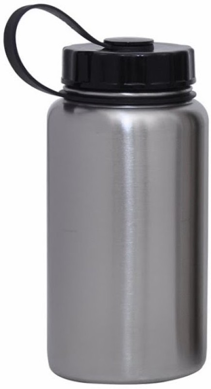 Carbon Stainless Steel 500 ml Water Bottle(Set of 1, Grey)