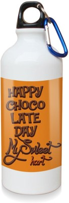 Sky Trends Gift Happy Chocolate Day My Sweet Hurt White Sipper Bottle 600 ml Water Bottle