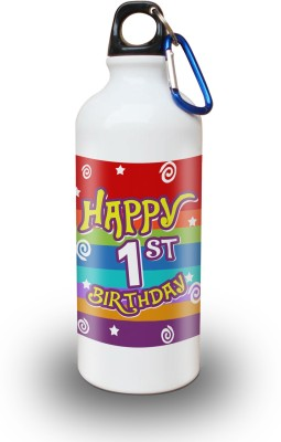 Sky Trends Gift 1st Happy Birthday 600 ml Water Bottle