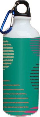 Tiedribbons Green Background And Yellow And Pink Line Pattern 600 ml Water Bottle