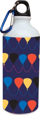 Tiedribbons Blue Background And Pink And Red Balloon 600 ml Water Bottle