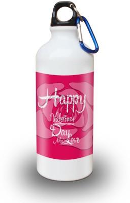 Sky Trends Gift Happy Valetine's Day My Love White Sipper Bottle 600 ml Water Bottle