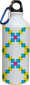 Tiedribbons Green Yellow And Blue Pattern 600 ml Water Bottle