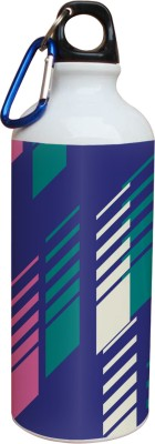 Tiedribbons Blue White And Green Colored Pattern 600 ml Water Bottle