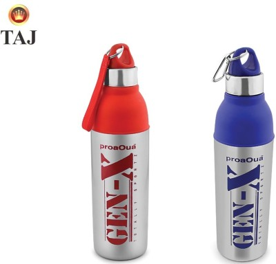 Taj Proaqua Gen-X Big Blue&Red With S.S Body(Hot &Cold) 800 ml Water Bottles(Set of 2, Blue, Silver, Red, Silver)