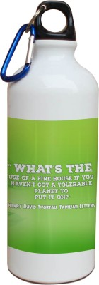 Tiedribbons Our Earth_Our Care_World Envronment Day_Green Henry David _White Sippers 600 ml Water Bottle