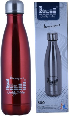 Kaliber Kampus - 500 Thermosteel - Double Body Red - Hot & Cold 500 ml Water Bottle(Set of 1, Red)