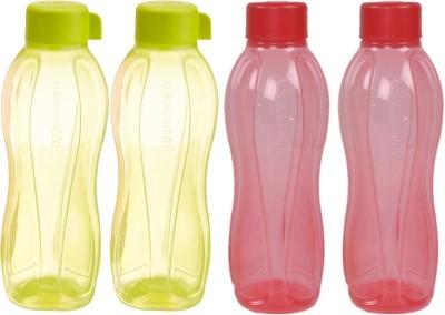 Tupperware Aquasafe 1000 ml Water Bottles(Set of 4, Yellow, Red)