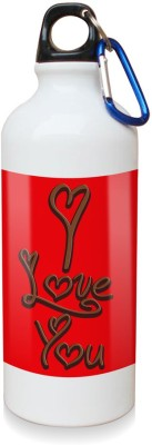 Sky Trends Gift I Love You With Chocolate flavour White Sipper Bottle 600 ml Water Bottle