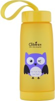 Brio Bright Clibe - Owl - Life Is beautiful - DB - 1125, Unbreakable, Yellow 400 ml Water Bottle(Set of 1, Yellow)