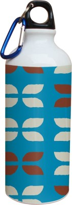 Tiedribbons Blue Background And White And Brown Pattern 600 ml Water Bottle