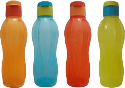 Tupperware Fliptop Aquasafe Set Of 4 1000 ml Water Bottles