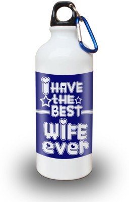 Sky Trends Gift I Have The Best Wife Ever White Sipper Bottle 600 ml Water Bottle