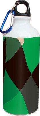 Tiedribbons Green And Black Pattern 600 ml Water Bottle