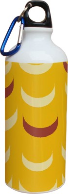 Tiedribbons Yellow Background And Cream And Brown Pattern 600 ml Water Bottle