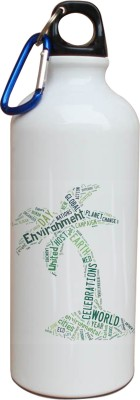 Tiedribbons Our Earth_Our Care_World Envronment Day_Green Tree _White Sippers 600 ml Water Bottle