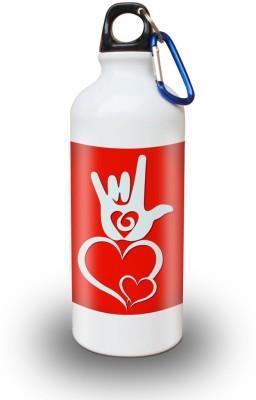 Sky Trends Gift Love Symbol in Valentine Day White Sipper Bottle 600 ml Water Bottle