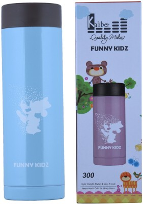 Kaliber Funny Kidz - 300 - Double Body - Blue - Hot and Cold 300 ml Water Bottle(Set of 1, Blue)