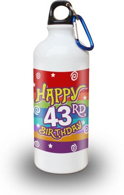 Sky Trends Gift 43rd Happy Birthday 600 ml Water Bottle