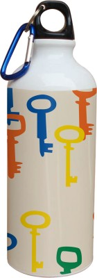 Tiedribbons Blue Yellow And Red Key Pattern 600 ml Water Bottle