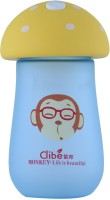 Brio Bright Clibe - Cow - Life Is beautiful - DB - 2097 Yellow, Unbreakable 300 ml Water Bottle(Set of 1, Yellow, Blue, Multi Colour)