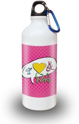 Sky Trends Gift I Love My Wife White Sipper Bottle 600 ml Water Bottle