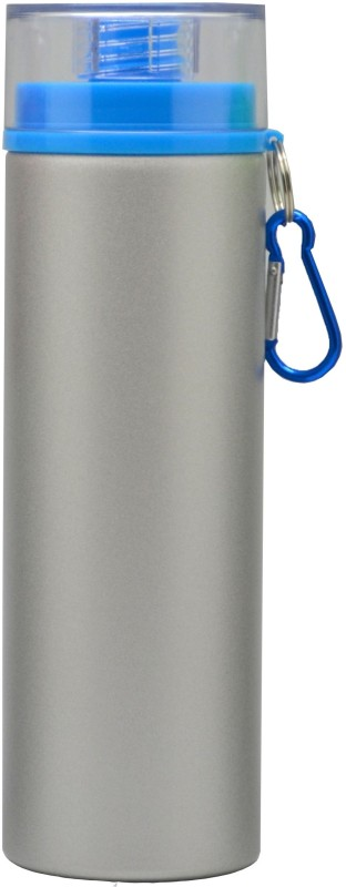 Omada Silver & Blue Lid 800 ml Water Bottle(Set of 1, Silver, Blue)