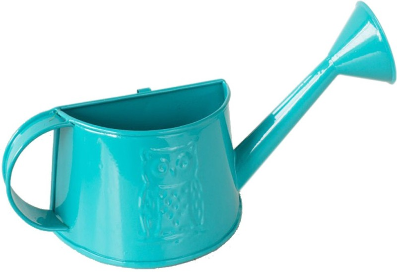 Deziworkz Owl Half Turquoise Hanging Watering Can-Wall Decor-Garden Decor 0 L Water Cane(Blue, Pack of 1)