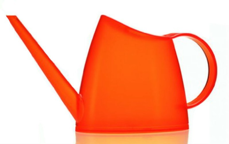 Shrih Stylish Orange Plastic Watering Can 1 L Water Cane(Orange, Pack of 1)