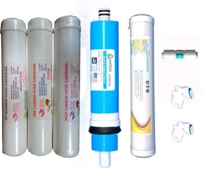 Wellon Wellon 80 GPD Membrane CTO 10,, FR(450) With 2 Pics Elbow Solid Filter Cartridge