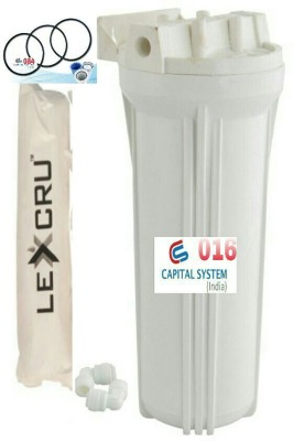 Capital Pre Filter Housing Set with Lexcru Spun With Extra Ring Solid Filter Cartridge