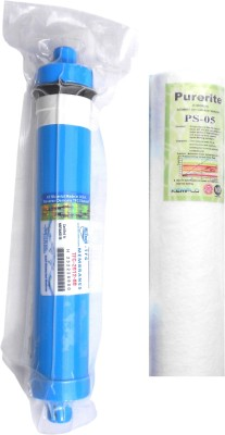 Purerite Spun with Hi-tech 80 GPD membrane for RO Service Solid Filter Cartridge(0.0001, Pack of 2)