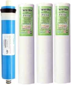 BalRama Vontron RO Membrane 75 gpd Blue Dry TFC + Spun Filter PP Kemflow for domestic water systems Service Solid Filter Cartridge(0.0005, Pack of 4)