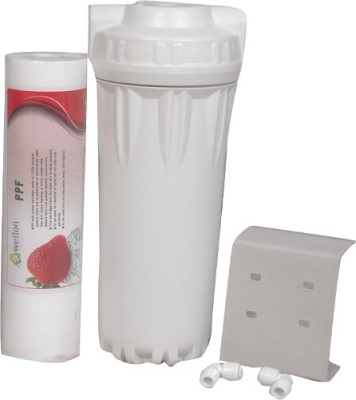 Wellon PP + Filter Housing + Clamp + Fittings ) For Water Purifiers Solid Filter Cartridge