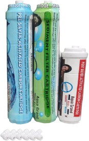XISOM Pre carbon Sediment Post Solid Filter Cartridge(0.7, Pack of 4)