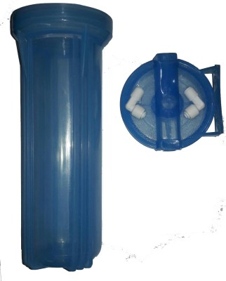 Capital Ro 10 Inch Transparent Blue Housing With Elbow Solid Filter Cartridge