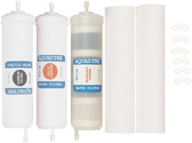 AQUADYN 1 Activated Carbon+1 Mineral/Alkaline + 1 Sediment Filter+2 PP Spun - all Quickfit type for RO Service Solid Filter Cartridge(Absolute 0.2 microns, Pack of 5)