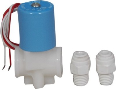 Wellon Solenoid Valve for RO Water Purifier with fittings Solid Filter Cartridge