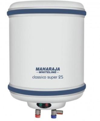 Maharaja Whiteline 25 L Storage Water Geyser(White, Blue, 25 Ltr Ltr Classico Super 25(WH-132) Storage Geysers White)